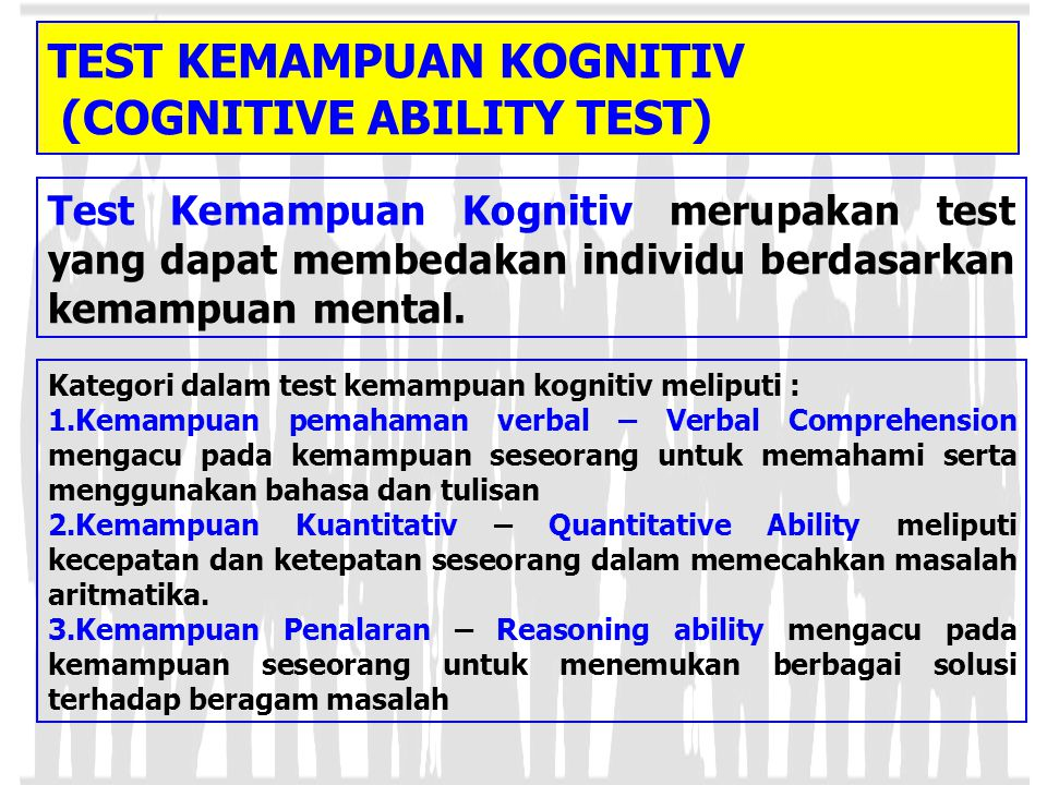 TEST KEMAMPUAN KOGNITIV (COGNITIVE ABILITY TEST)