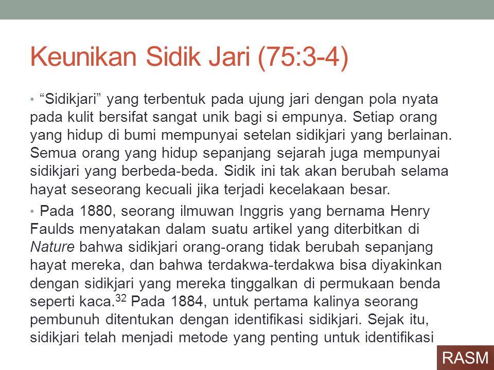 Keunikan Sidik Jari (75:3-4)