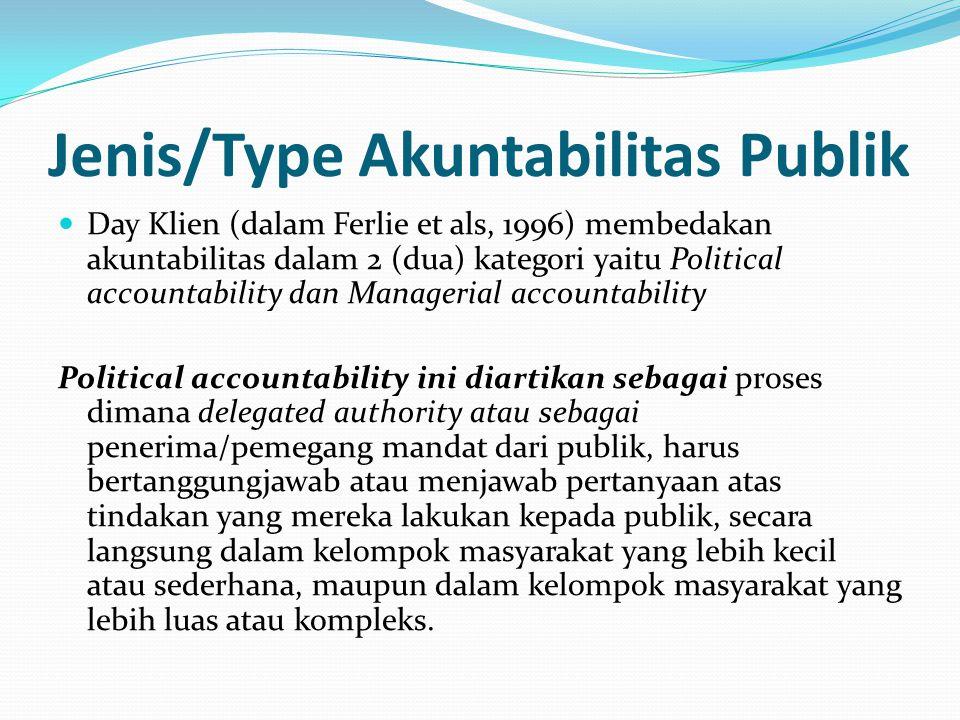 Jenis/Type Akuntabilitas Publik