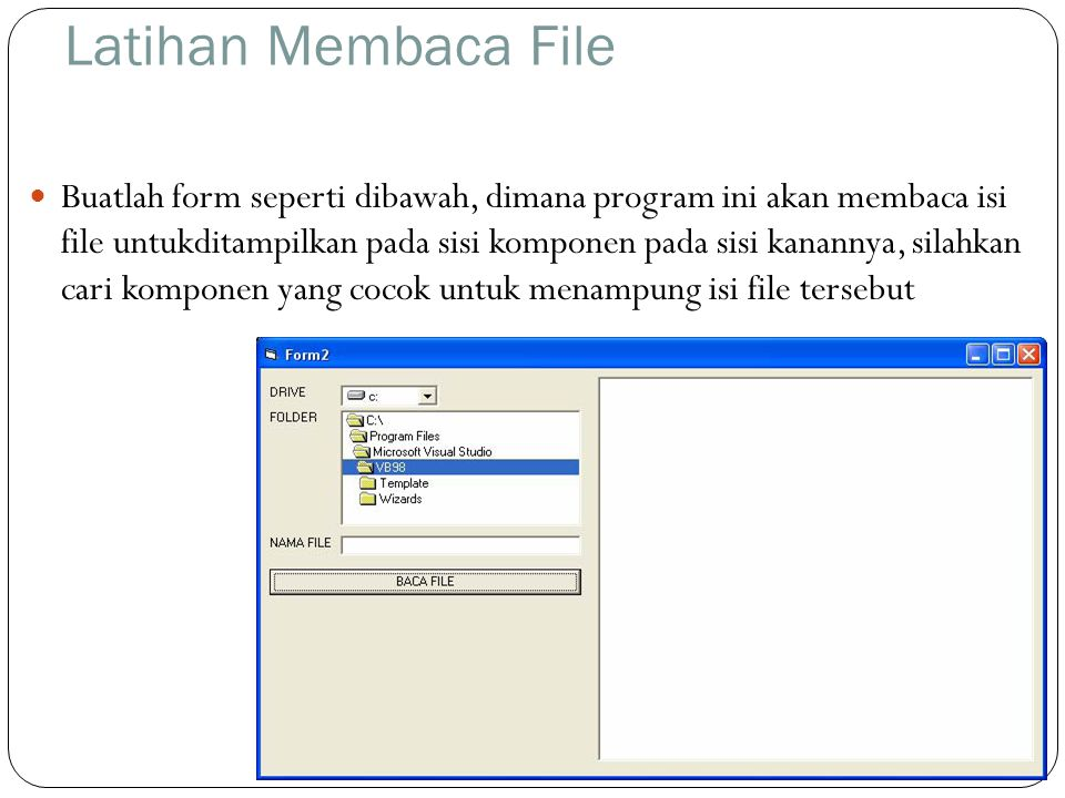Latihan Membaca File