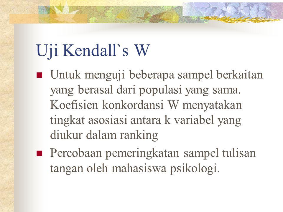 Uji Kendall`s W