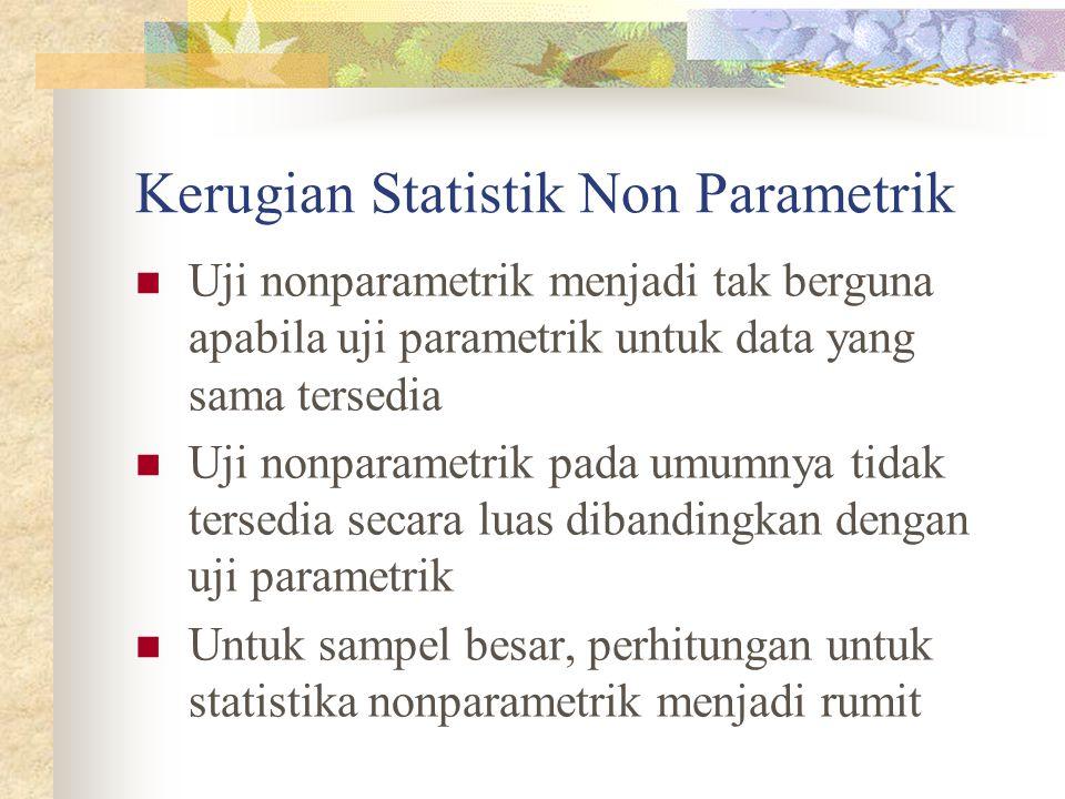 Kerugian Statistik Non Parametrik