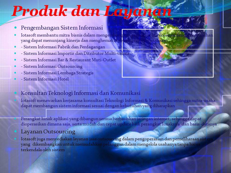 Produk dan Layanan Pengembangan Sistem Informasi