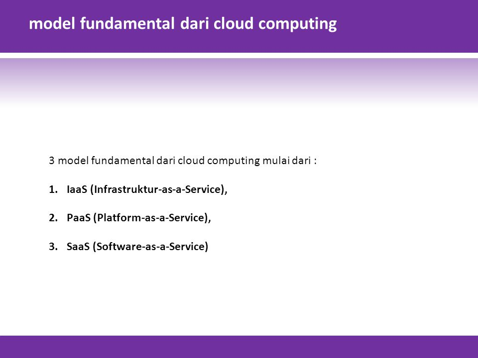 model fundamental dari cloud computing