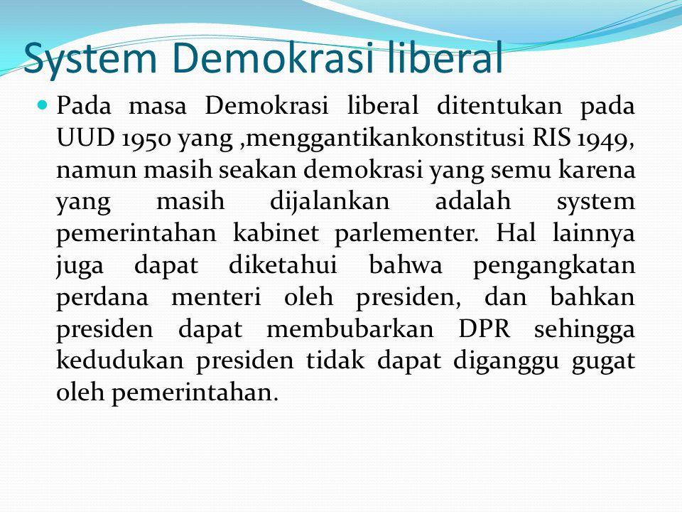 System Demokrasi liberal