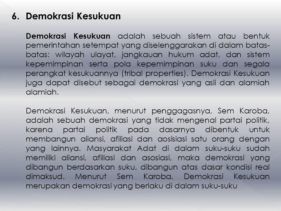 6. Demokrasi Kesukuan