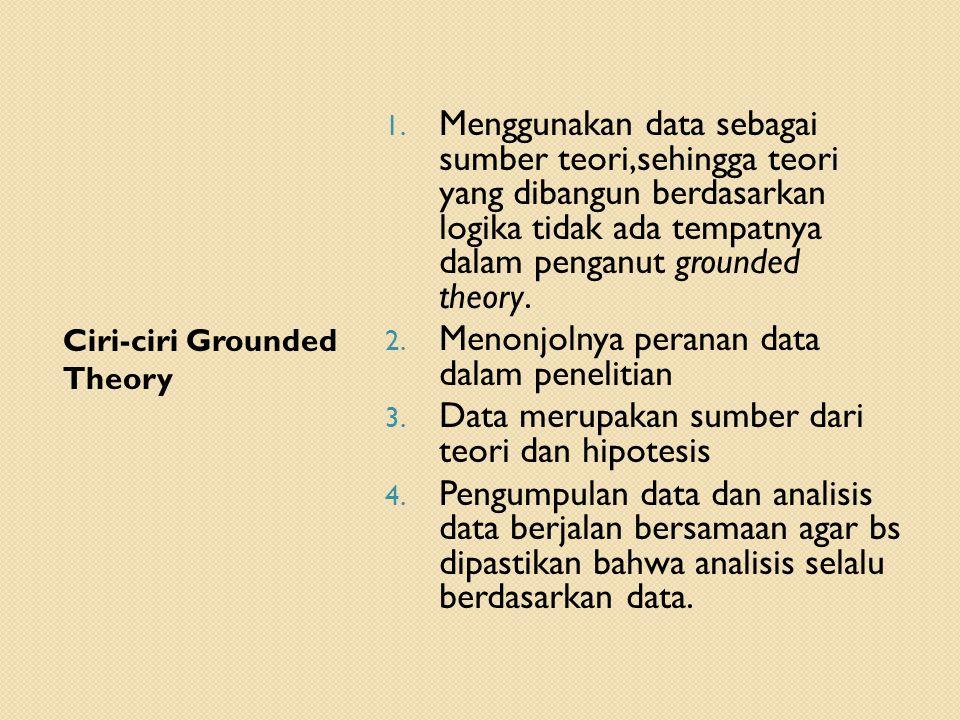 Menonjolnya peranan data dalam penelitian