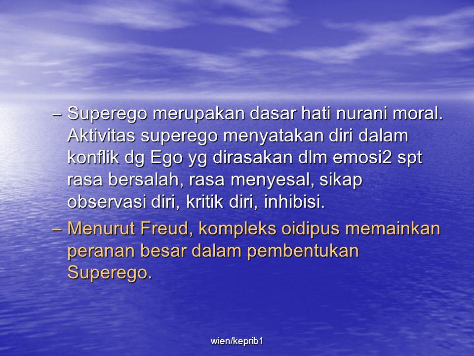 Superego merupakan dasar hati nurani moral