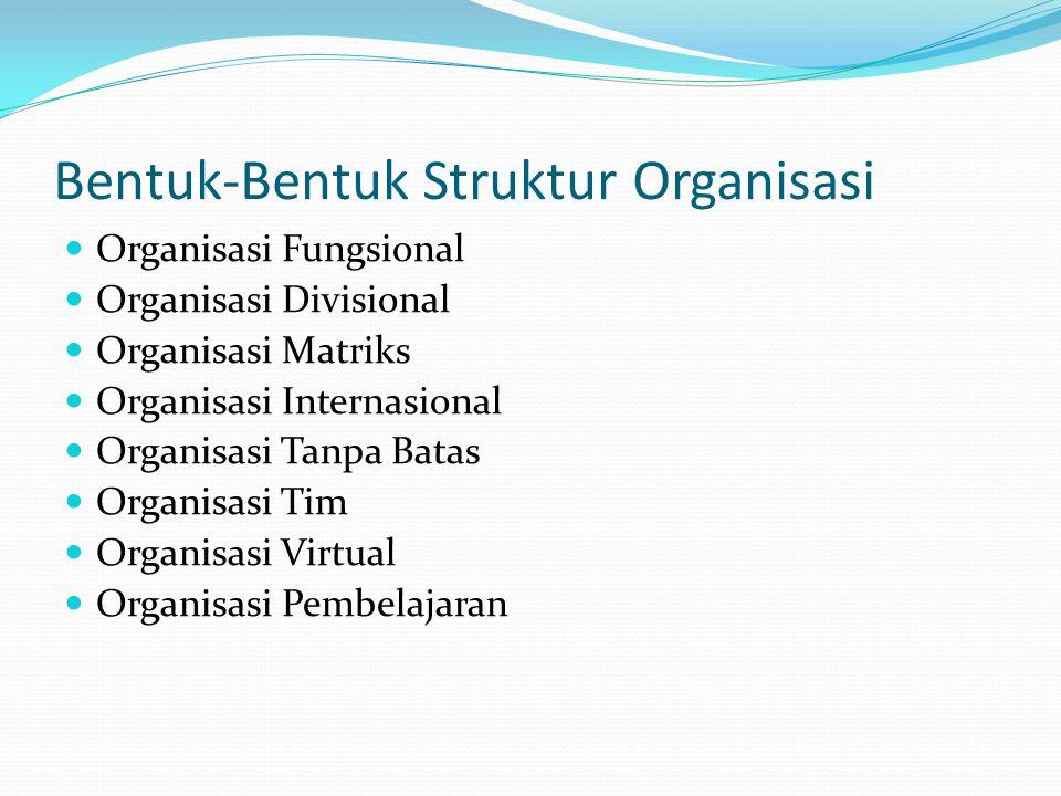 Bentuk-Bentuk Struktur Organisasi