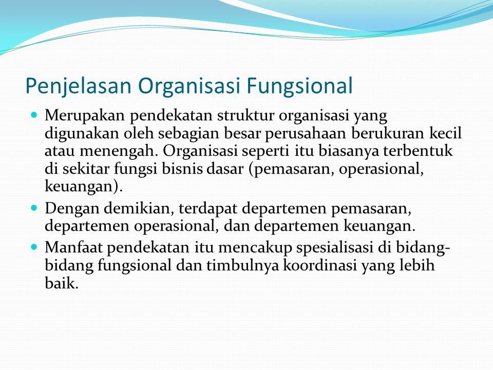 Penjelasan Organisasi Fungsional