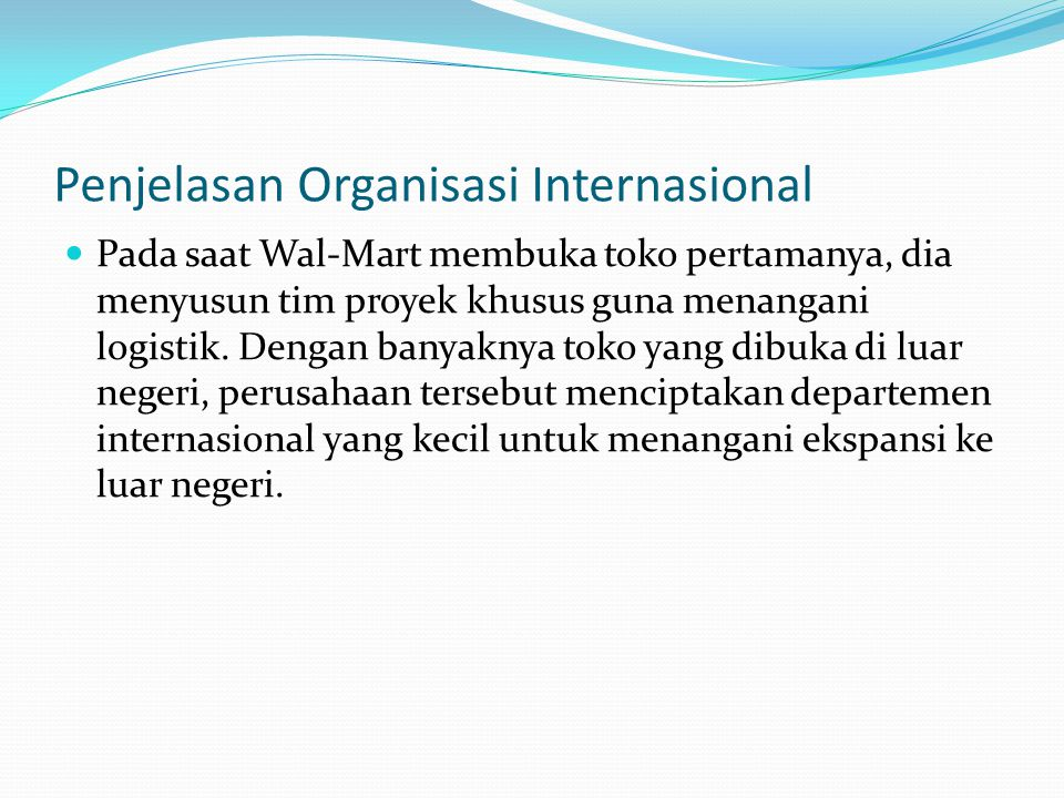 Penjelasan Organisasi Internasional