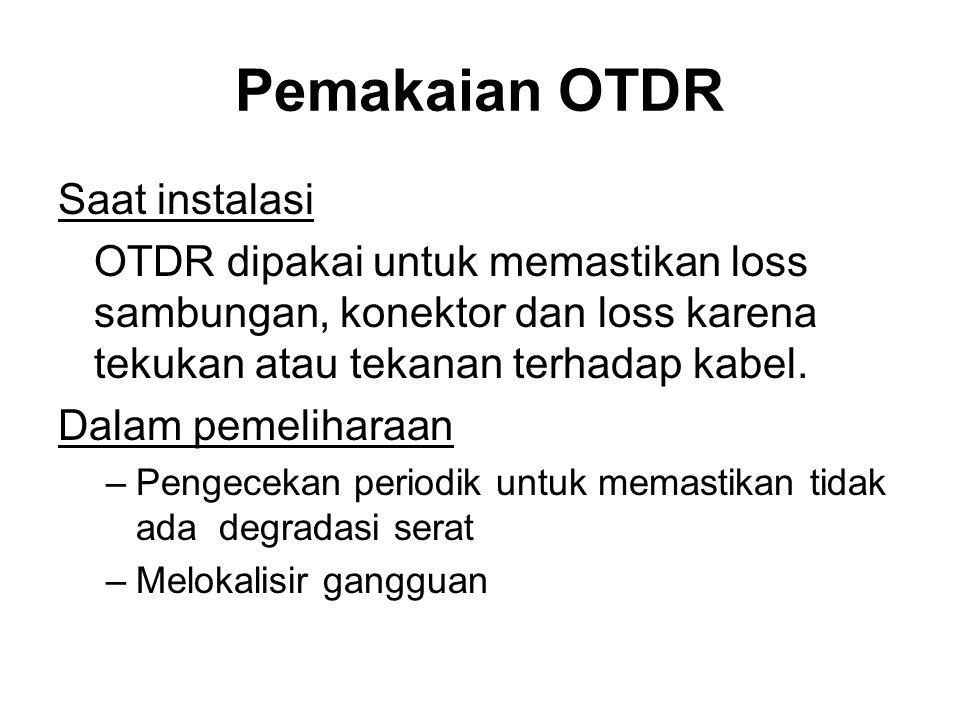 Pemakaian OTDR Saat instalasi