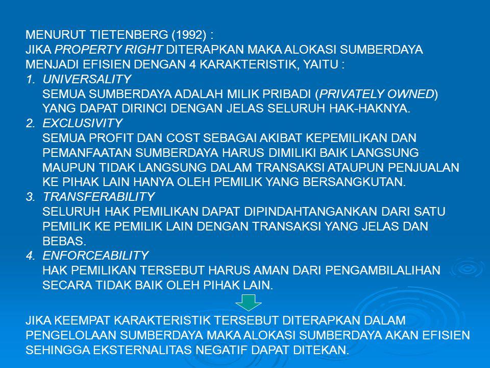 MENURUT TIETENBERG (1992) :