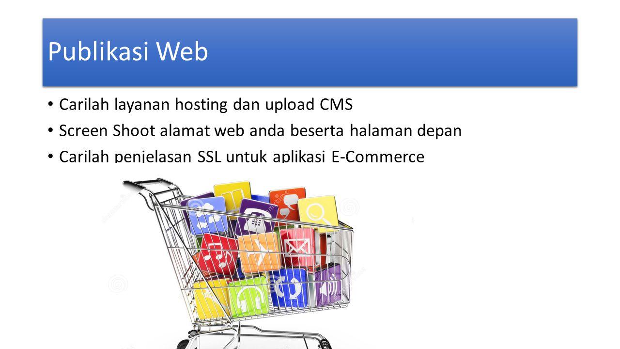 Publikasi Web Carilah layanan hosting dan upload CMS