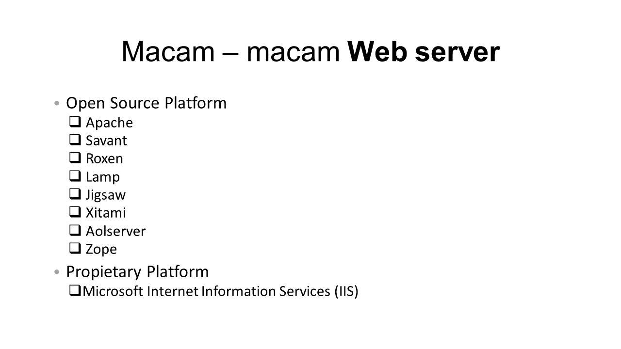 Macam – macam Web server