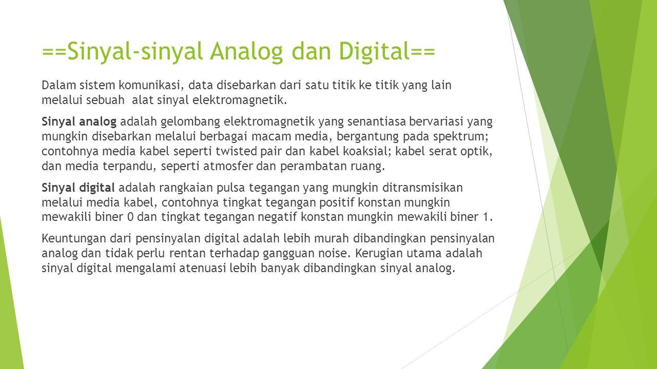 ==Sinyal-sinyal Analog dan Digital==