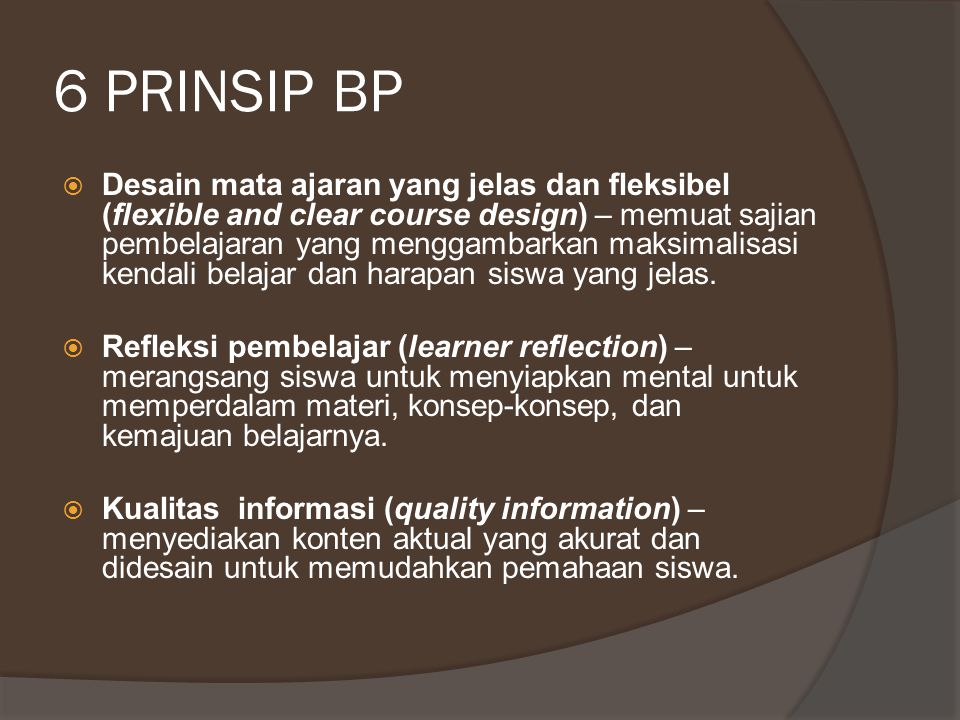6 PRINSIP BP