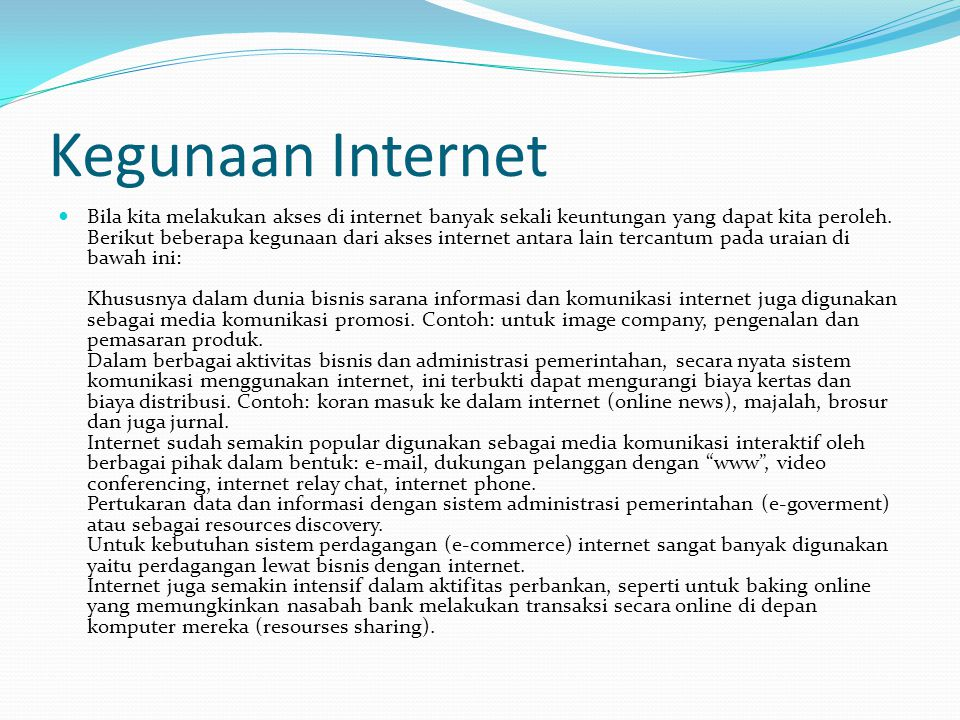 Kegunaan Internet