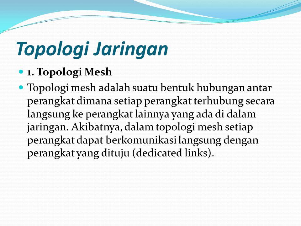 Topologi Jaringan 1. Topologi Mesh