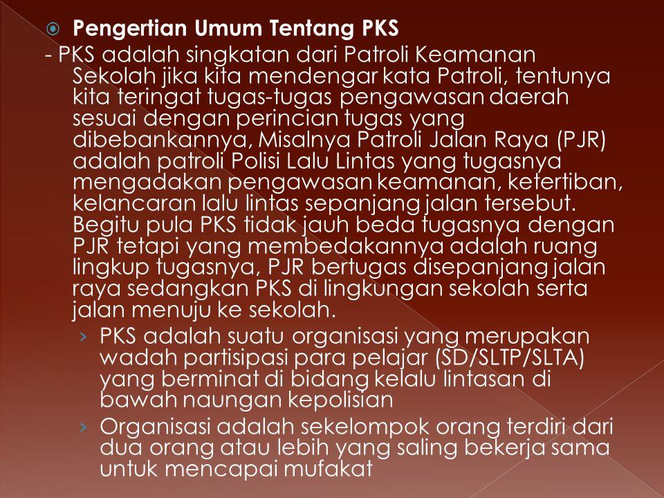 Pengertian Umum Tentang PKS