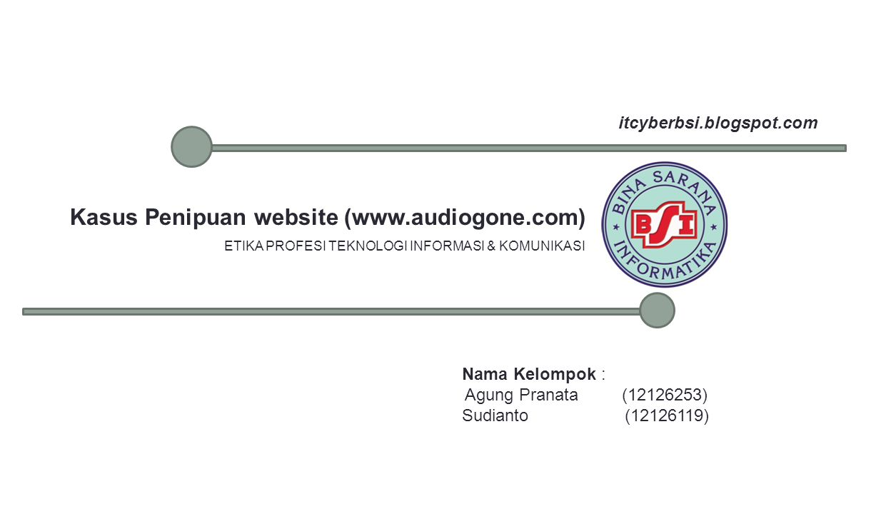 Kasus Penipuan website (www.audiogone.com)