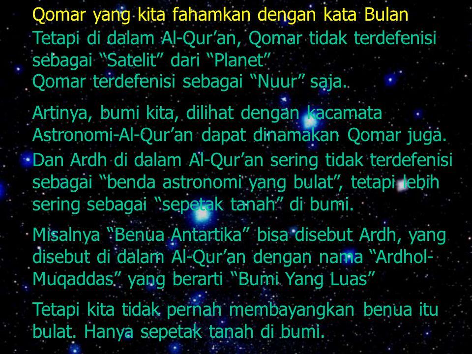 Qomar yang kita fahamkan dengan kata Bulan