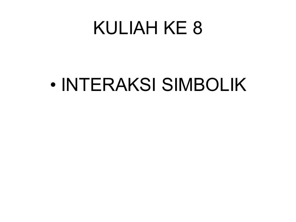 KULIAH KE 8 INTERAKSI SIMBOLIK