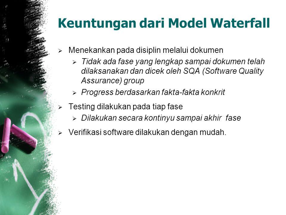 Keuntungan dari Model Waterfall