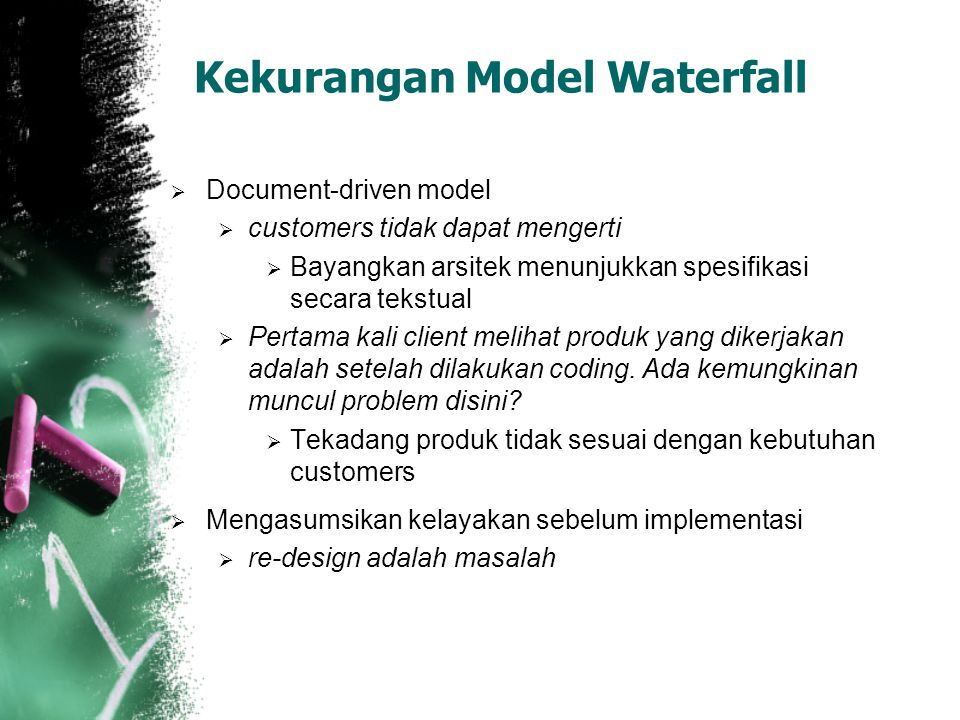 Kekurangan Model Waterfall