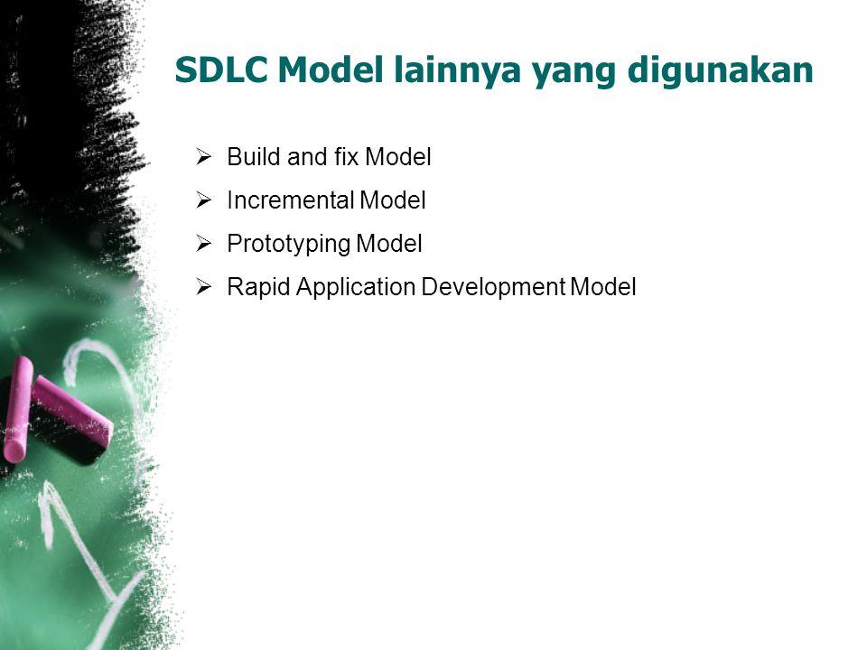 SDLC Model lainnya yang digunakan