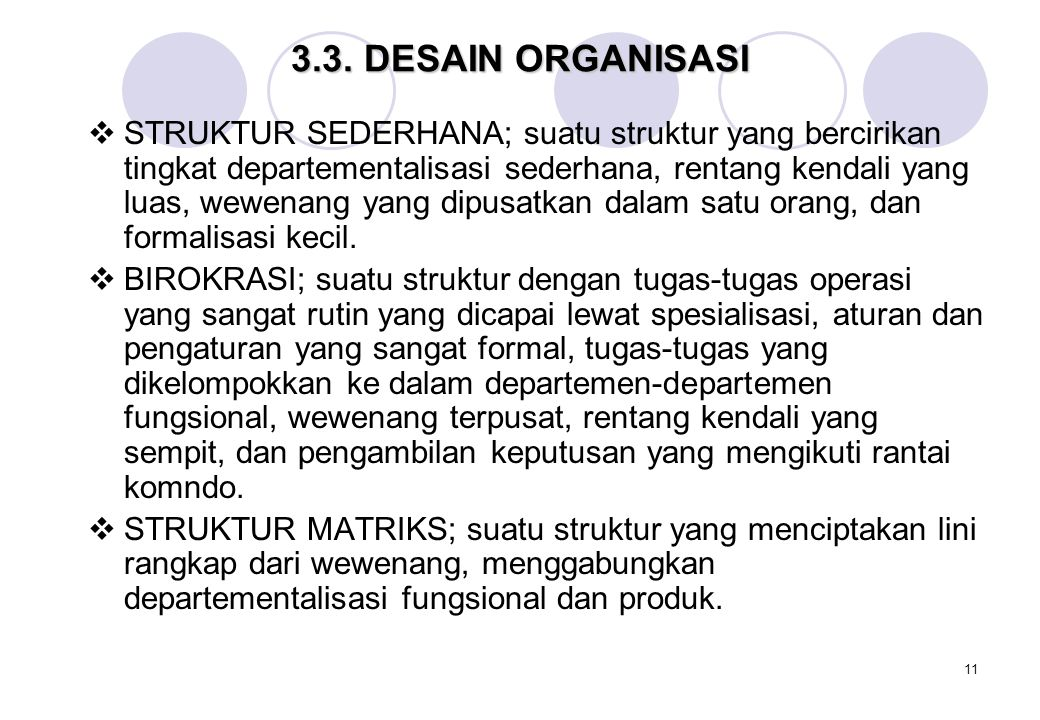 3.3. DESAIN ORGANISASI