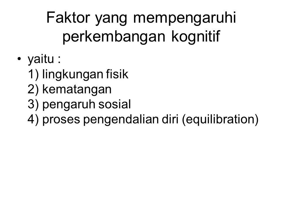 Faktor yang mempengaruhi perkembangan kognitif
