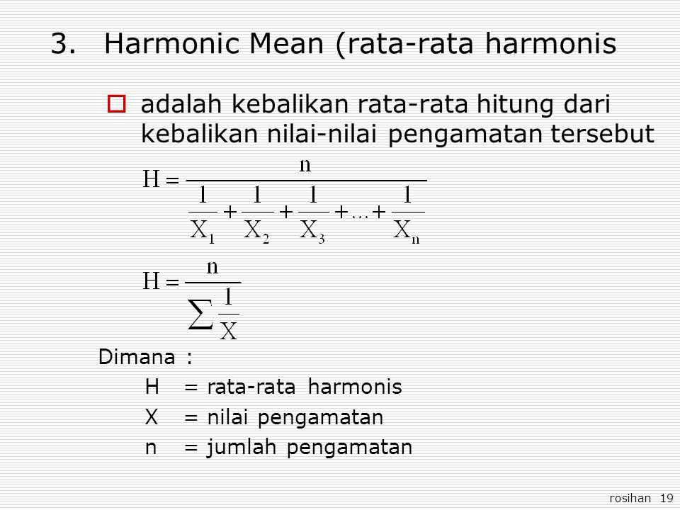 Harmonic Mean (rata-rata harmonis