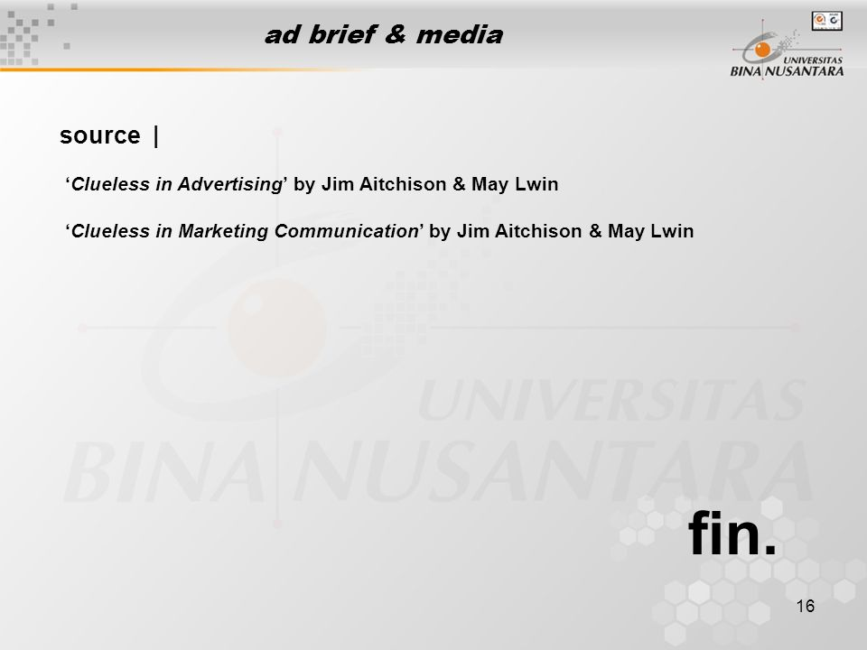 fin. ad brief & media source |