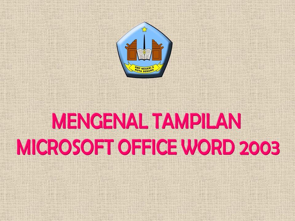 MENGENAL TAMPILAN MICROSOFT OFFICE WORD 2003