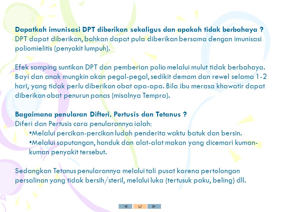 Dapatkah imunisasi DPT diberikan sekaligus dan apakah tidak berbahaya