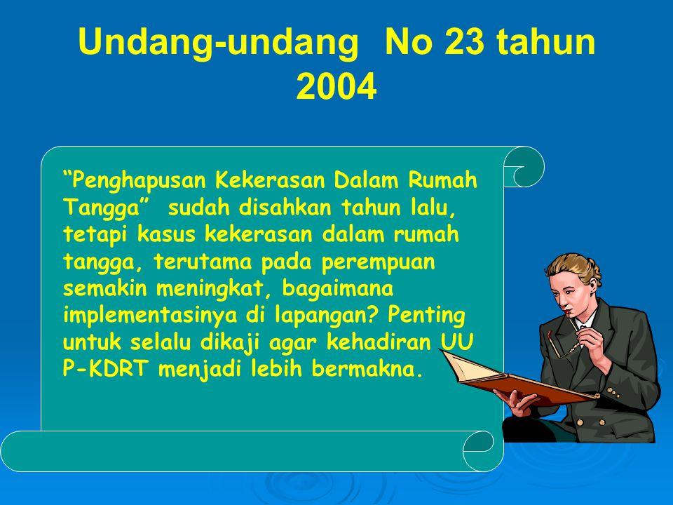 Undang-undang No 23 tahun 2004