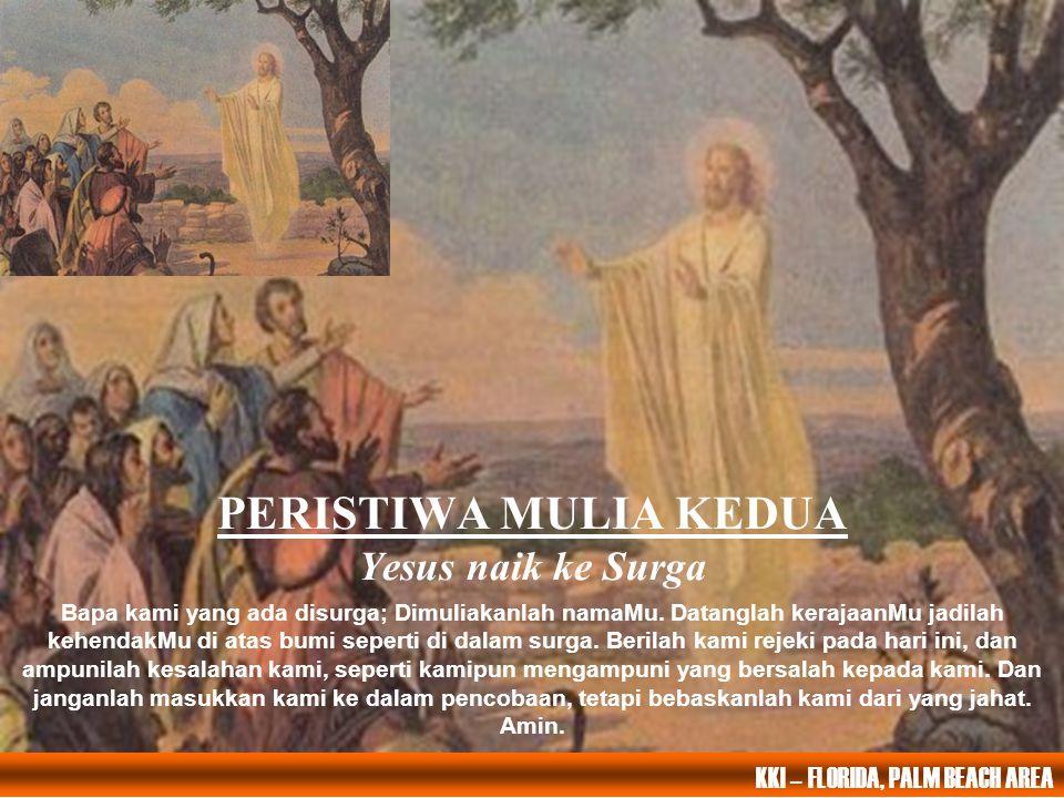PERISTIWA MULIA KEDUA Yesus naik ke Surga