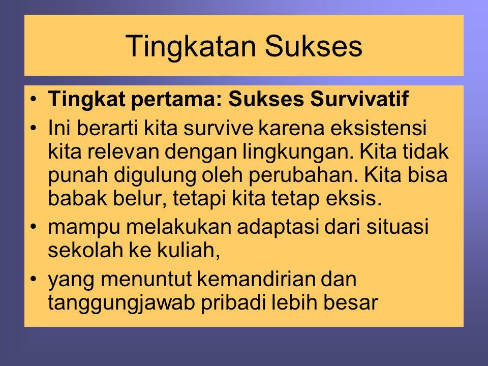 Tingkatan Sukses Tingkat pertama: Sukses Survivatif