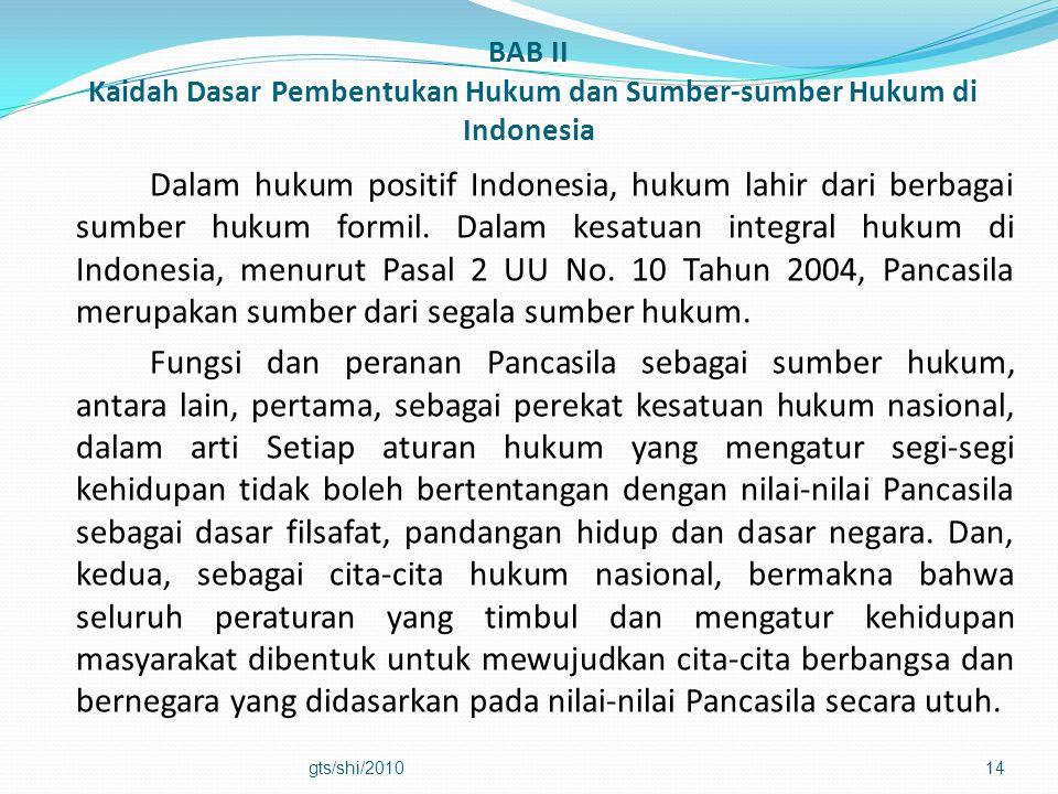 BAB II Kaidah Dasar Pembentukan Hukum dan Sumber-sumber Hukum di Indonesia