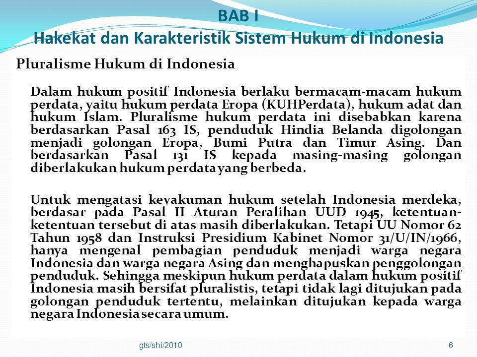 BAB I Hakekat dan Karakteristik Sistem Hukum di Indonesia