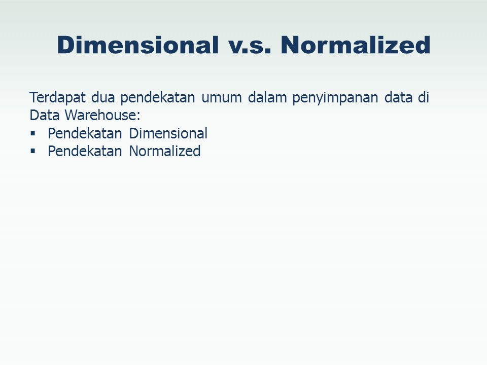 Dimensional v.s. Normalized