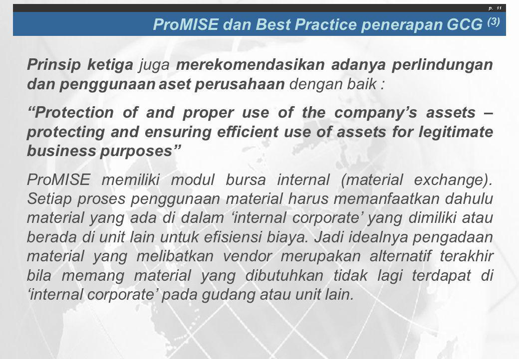ProMISE dan Best Practice penerapan GCG (3)