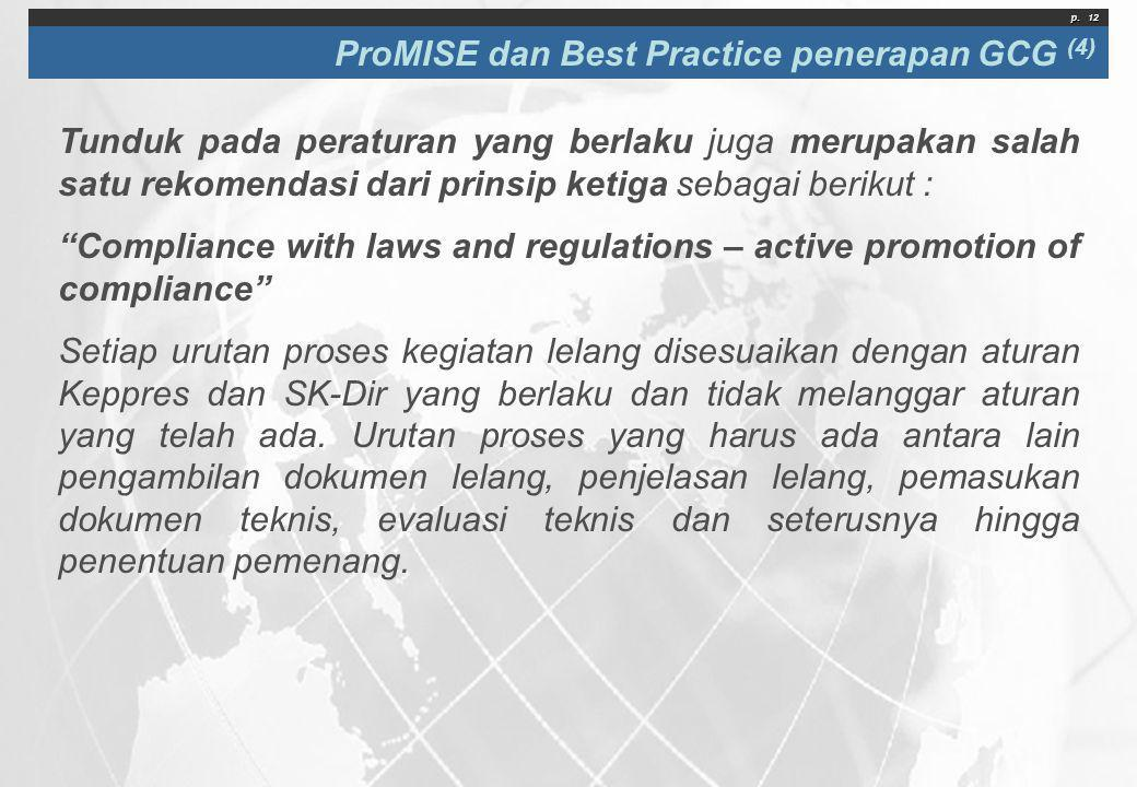 ProMISE dan Best Practice penerapan GCG (4)