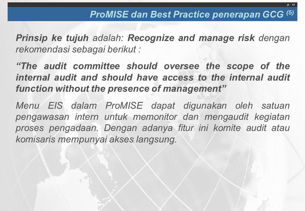 ProMISE dan Best Practice penerapan GCG (5)