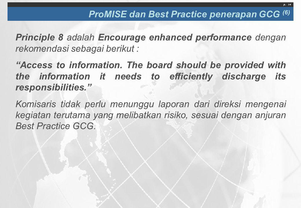 ProMISE dan Best Practice penerapan GCG (6)