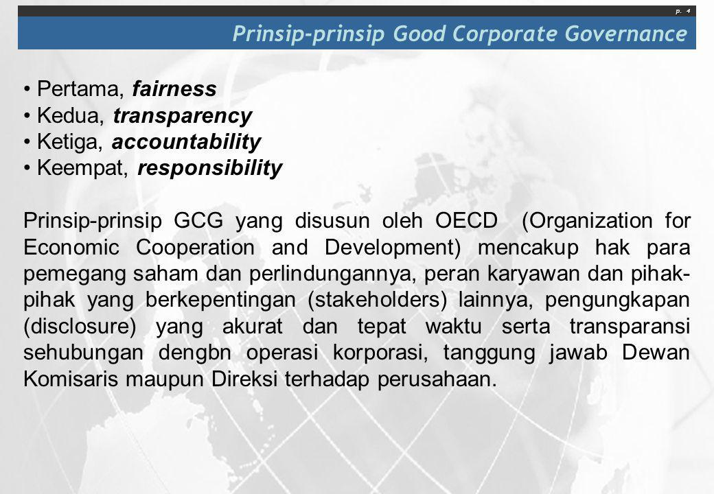 Prinsip-prinsip Good Corporate Governance