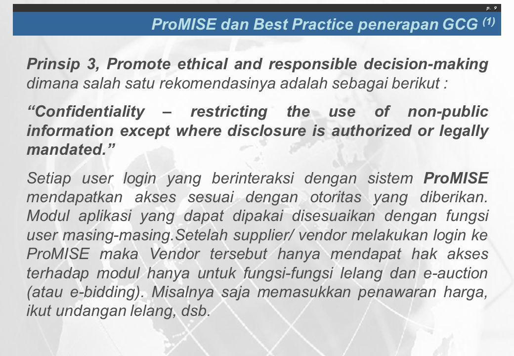 ProMISE dan Best Practice penerapan GCG (1)