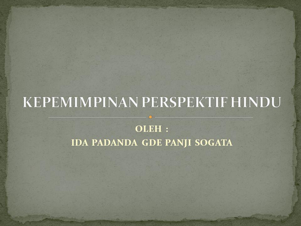 KEPEMIMPINAN PERSPEKTIF HINDU