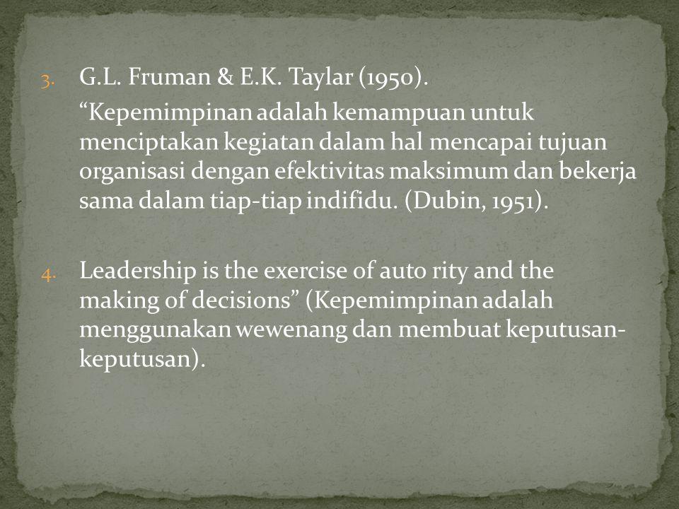 G.L. Fruman & E.K. Taylar (1950).